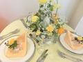 オレンジ装花